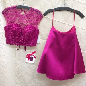 Mori Lee fuchsia dress size 4 NWT